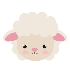 cute little sheep animal character vector image