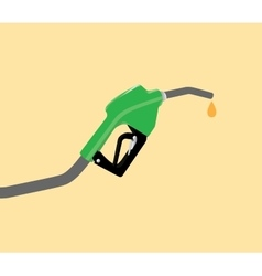 fuel pump with drop gasoline with yellow vector image