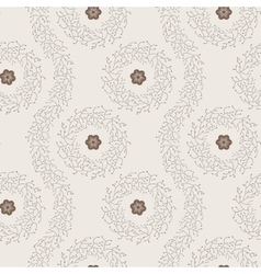 Seamless pattern of twigs vector image vector image