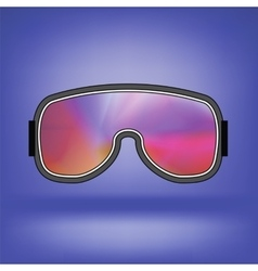 Ski Goggle with Colorful Glasses vector image