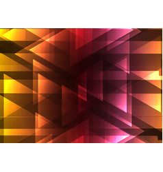 warm triangle and square bar abstract background vector image vector image