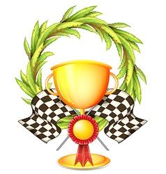 A golden trophy vector