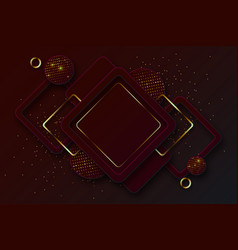 Abstract 3d background with burgundy paper layers vector