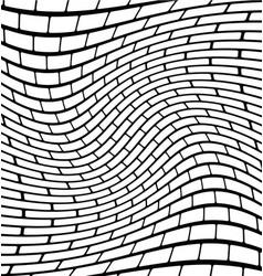 abstract brick wall texture with rotating vector image