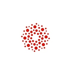 Abstract circle logotype Unusual dotted round vector