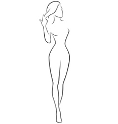 Abstract female contour vector
