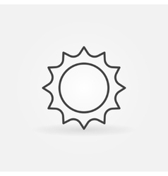 Abstract line sun icon vector image