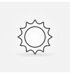Abstract line sun icon vector