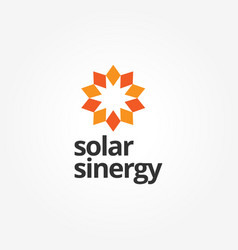 abstract sun energy logo sign symbol icon vector image