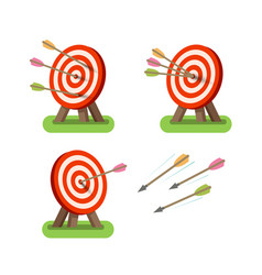 arrows and round target standing on tripod vector image