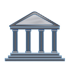 bank building in the style of a classical vector image
