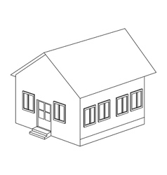 Big house icon vector