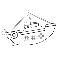 Boattoybw vector