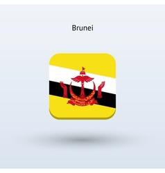 Brunei flag icon vector