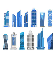 buildings skyscrapers in a flat style vector image