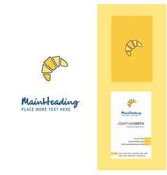 bun creative logo and business card vertical vector image