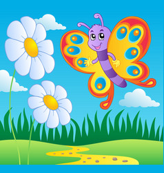Butterfly theme image 2 vector