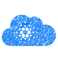 Cardano cloud icon grunge watermark vector
