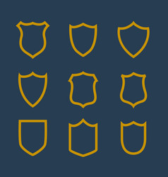 Collection of badges symbol in line style vector