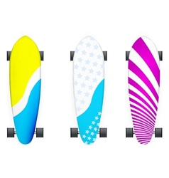 colored longboards vector image
