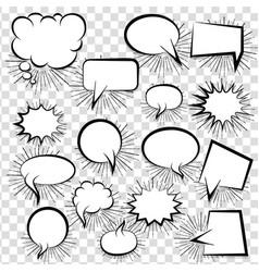 Comic empty text speech bubble 25 vector