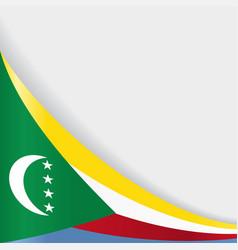 Comoros flag background vector