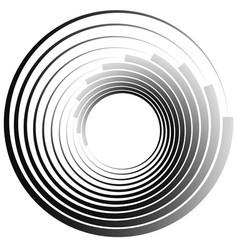 Concentric circles radiating radial circles vector