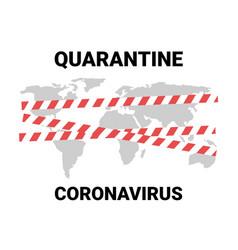 Coronavirus world map quarantined countries closed vector