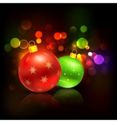 decorated bauble in christmas background vector image