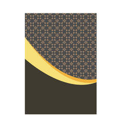 elegant cover page with pattern background vector image