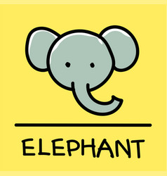 Elephant hand-drawn style vector