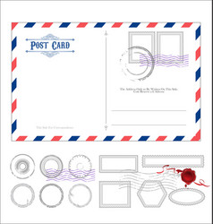 Empty post card retro vintage design 0115 vector