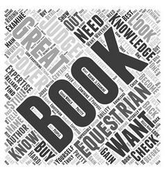 equestrian books Word Cloud Concept vector image