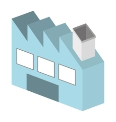 Factory building isometric isolated icon design vector