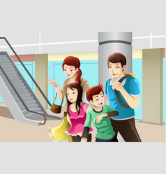 family going to shopping vector image