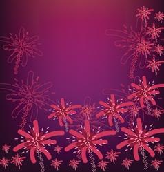 firework flower vector image