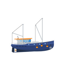 fishing trawler isolated on white icon vector image