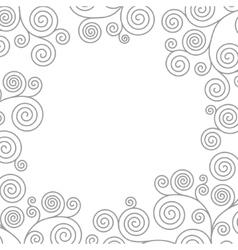 Frame with curvy spirals vector