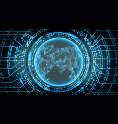 Future technology cyber concept background asia vector