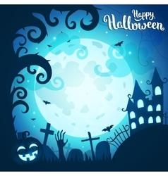 Halloween art vector image