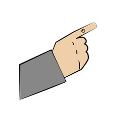 hand man gesture design vector image