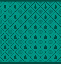 holiday seamless pattern with christmas tree and vector image