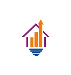 house construction arrow logo vector image