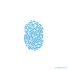 human fingerprint icon vector image