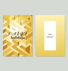 Invitationgreeting card template design maze vector
