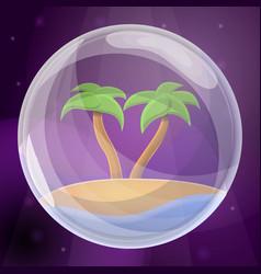 island soap bubble concept background cartoon vector image