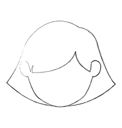 Isolated girl head design vector