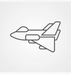 jet icon sign symbol vector image
