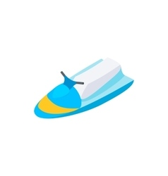 Jet ski 3d isometric icon vector