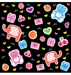 kids fun pattern vector image
